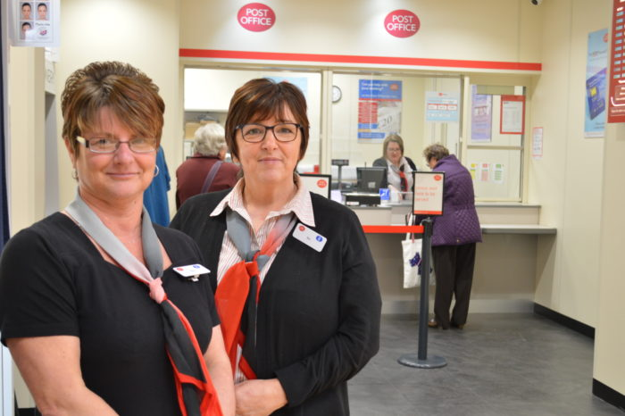 Claire-Duffield-left-and-Bev-Poole-right-both-Post-Office-Clerks-at-Saxilby.JPG
