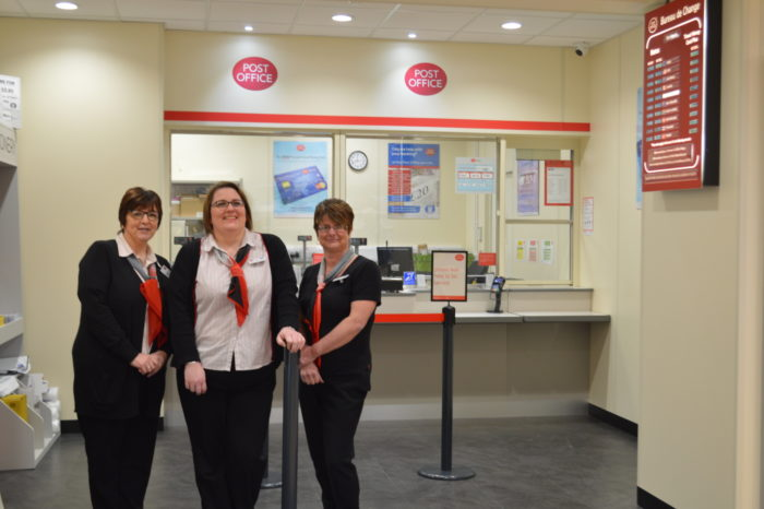 Left-to-right-Post-Office-Clerk-Bev-Poole-Interim-Manager-Ruth-Bahr-and-Post-Office-Clerk-Claire-Duffield.JPG