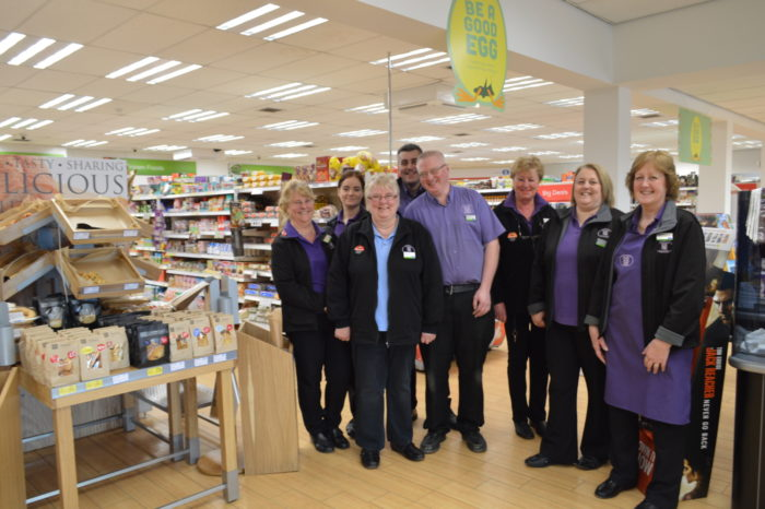 Left-to-right-Sue-Kitchen-Gemma-Cook-Sue-Clifton-Kevin-Cottam-Store-Manager-Gary-Carver-Rachel-Turner-Jacqui-Hughes-and-Jane-Weaver.JPG