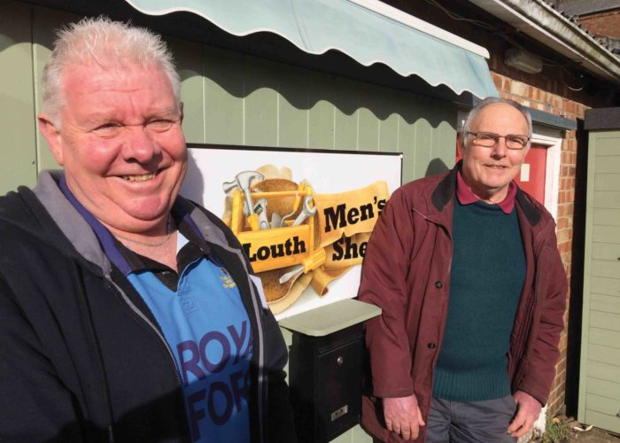 Louth Mens Shed Greg Gilbert L Martin Peck R Credit To Lincolnshire Life Magazine Small Web Version