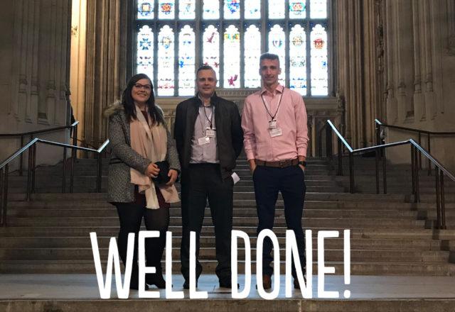 Stellar staff visit House of Commons