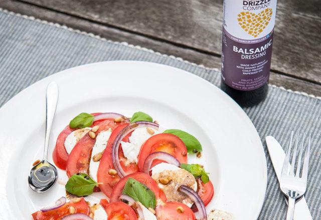 Balsamic, mozzarella & tomato salad