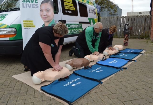 Shoppers learn CPR at four food stores