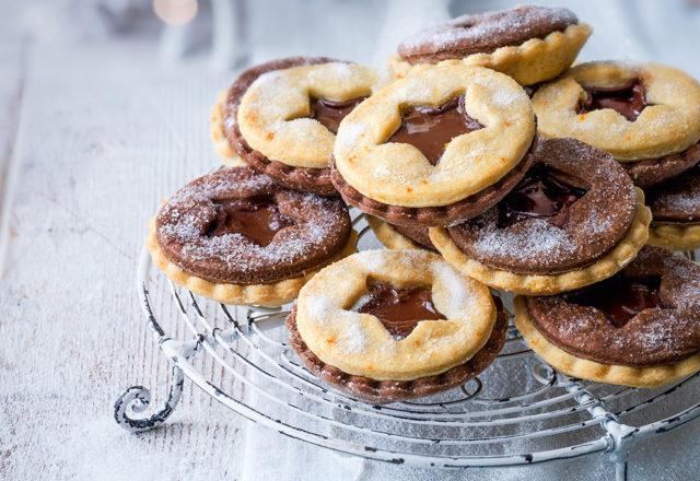Chocolate orange mince pies (V)