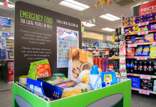 Over a tonne of donations  for food bank campaign