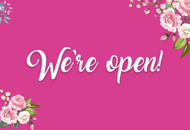 Our florist has re-opened