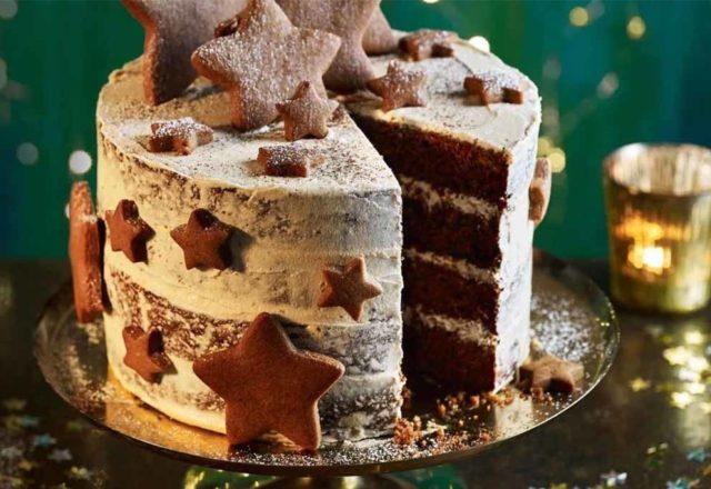 Gingerbread latte Christmas cake