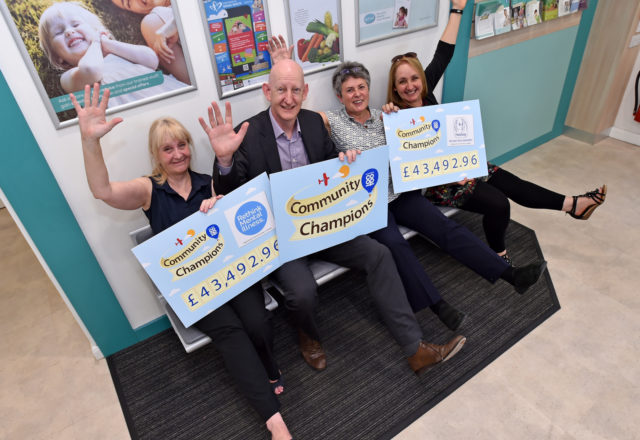 Celebrations as health groups receive £86k boost