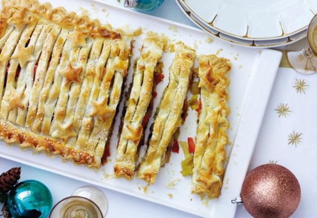 Leek, cheese and pepper slice (V)