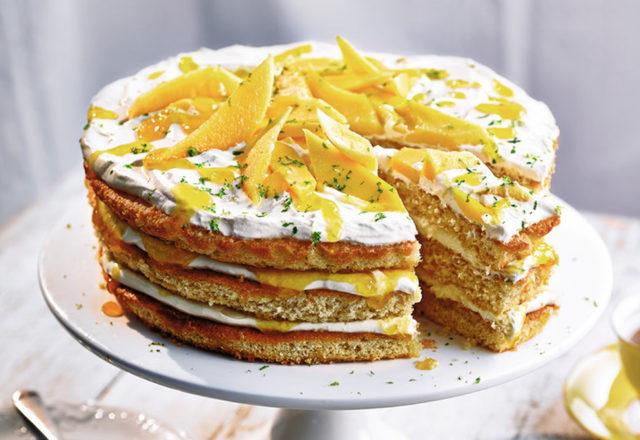Mango lassi layer cake (V)