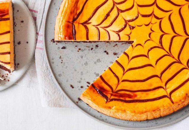 Pumpkin & dark chocolate cheesecake