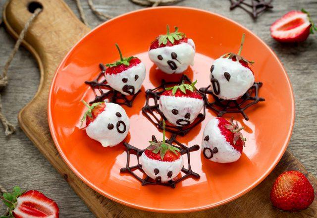Strawberry ghosts