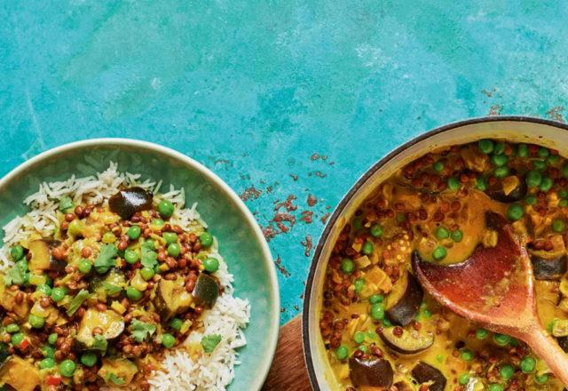 Vegan coconut curry (Ve)