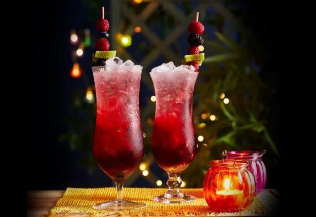 Sour lemon and berry vodka slushies (VE) (GF)