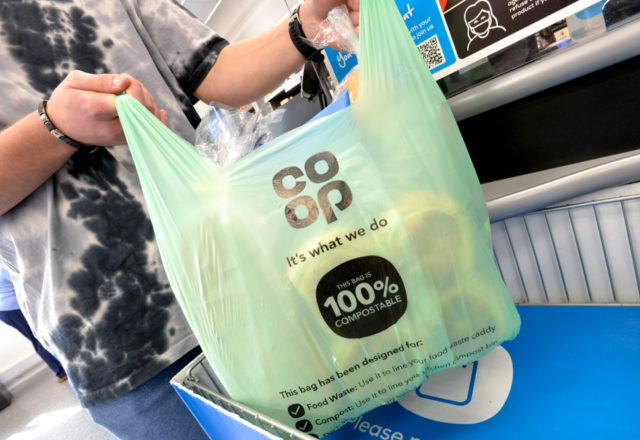 Our carrier bags have gone green...