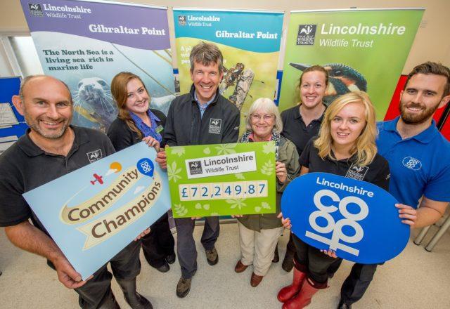 Wildlife Trusts celebrate £81k donation