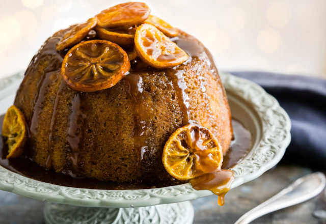 Clementine and ginger pud