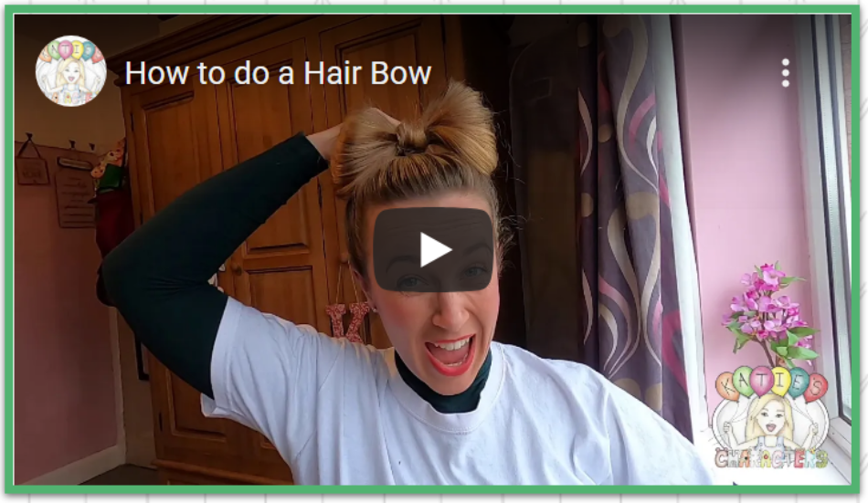 Katies Characters How To Make A Hair Bow