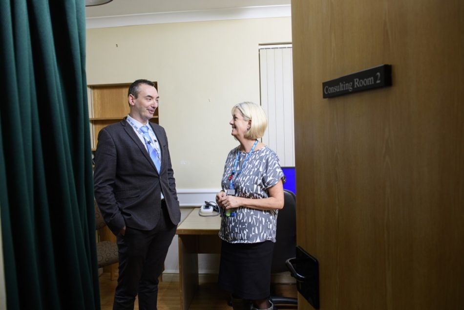 Paul Thompson Left With Carolyn From Cliff House Medical Practice