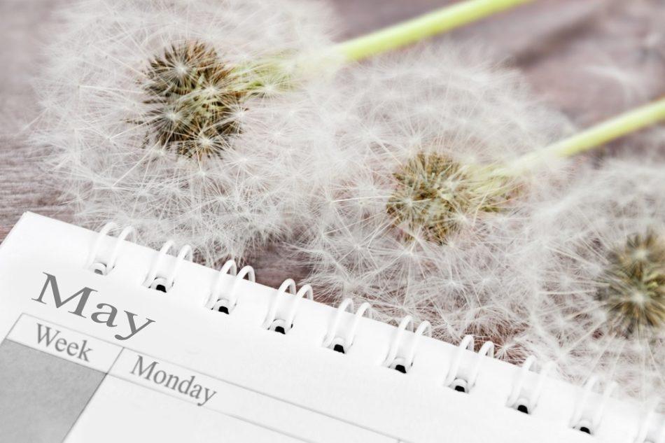calendar with flowers