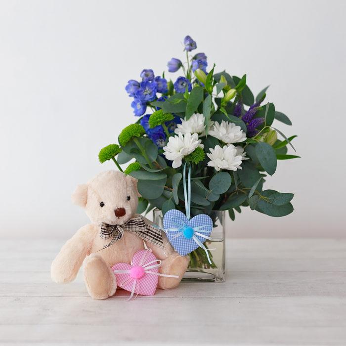 Baby Vase With Teddy