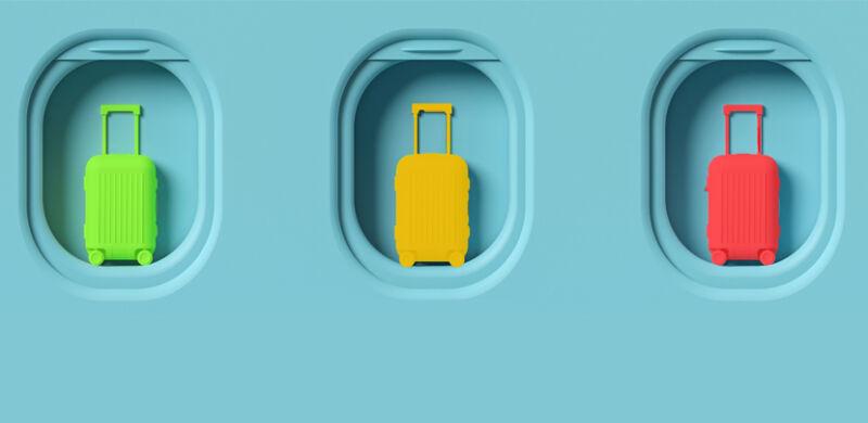 Suitcase Traffic Light System Slider