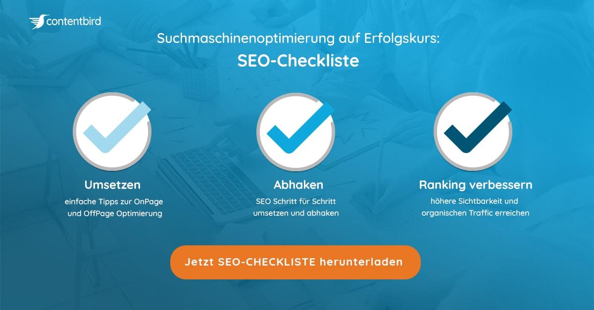 contentbird SEO Checkliste