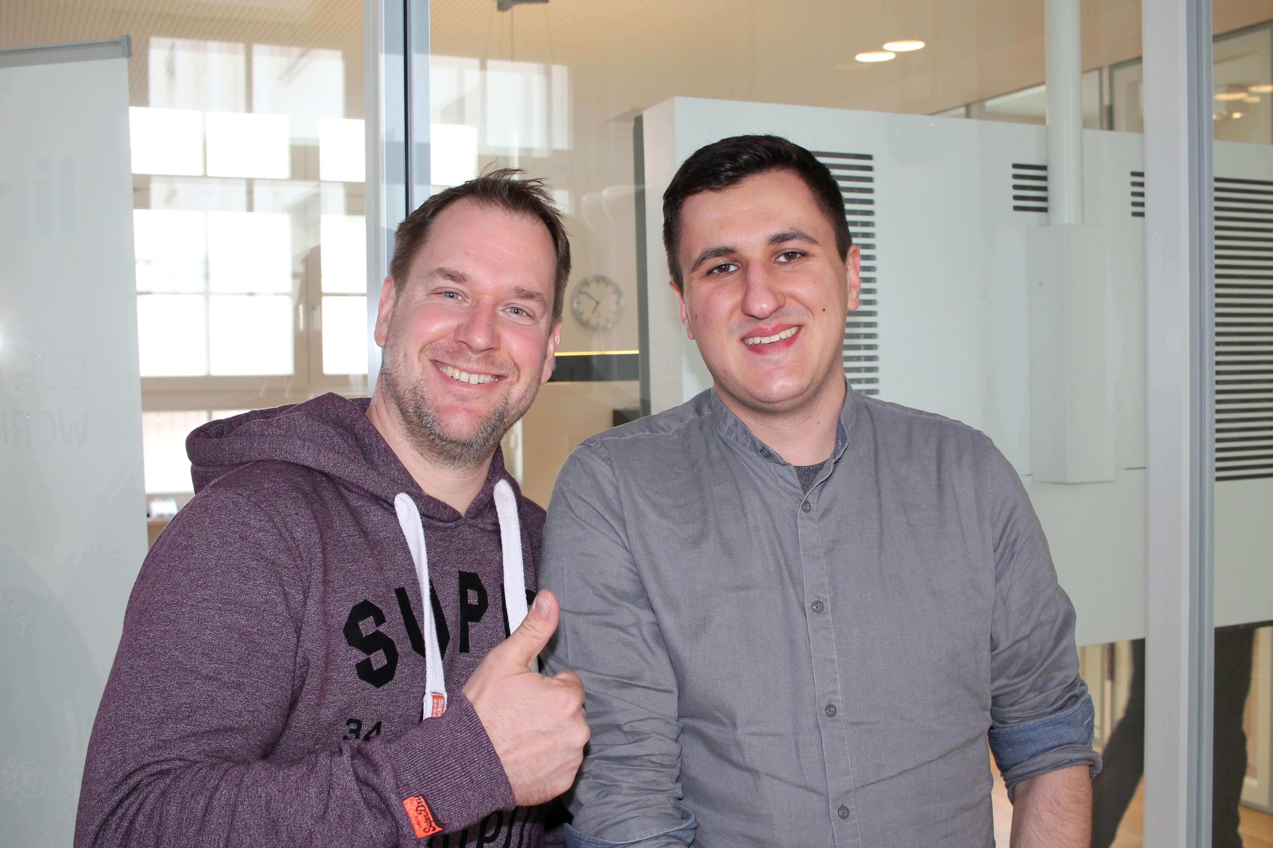 Roland Riethmüler und Anton Marintsev von der smava GmbH