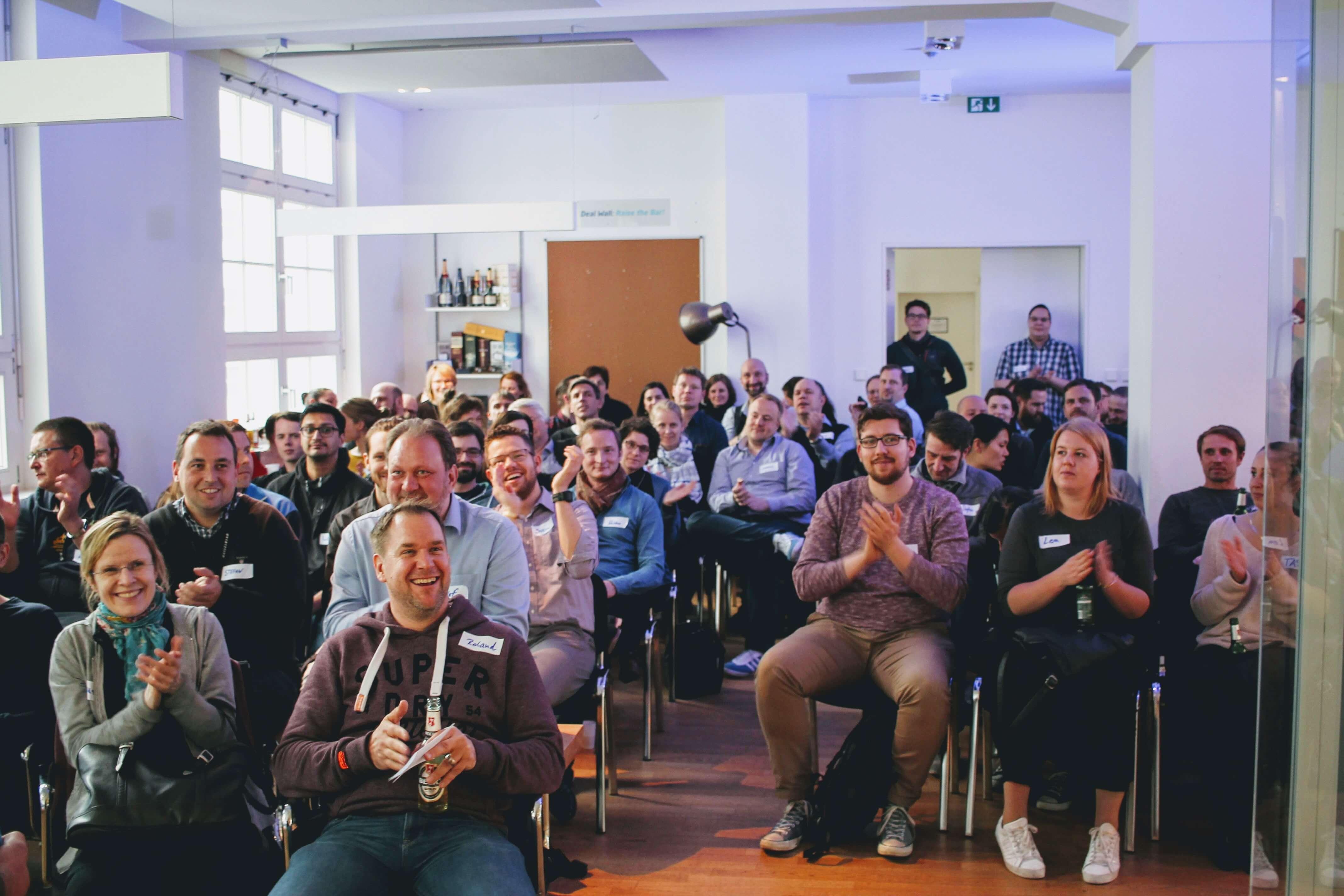Roland Riethmüller und Teilnehmer auf Content Marketing Tuesday