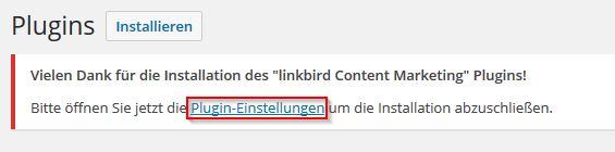 WordPress Token contentbird