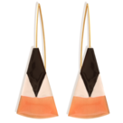bijou émail femme little woman paris boucles d'oreilles dormeuses triangles