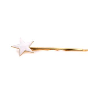 Accessoire cheveux femme - Épingle fine étoile or émaillé