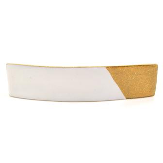 Accessoire cheveux créateur - Grande barrette rectangle émail bicolore