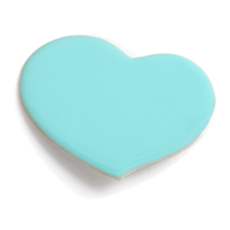 bijou émail femme broche coeur bleu