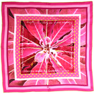 Foulard de createur carre rose soie little woman paris