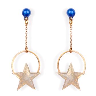 bijou email femme etoiles boucles d'oreilles