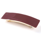 Barrette cheveux email little woman paris barrette moyenne rectangle marron