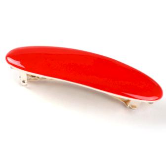 bijou en émail femme barrette à cheveux émail ovale rouge little woman paris