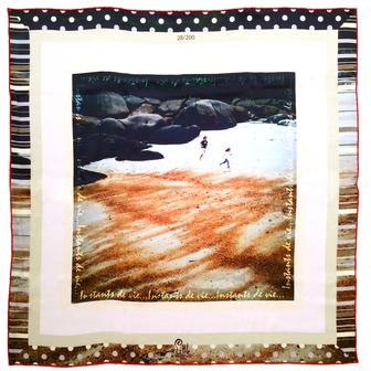 foulard de créateur carré soie dune little woman paris