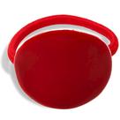 bijou en émail femme élastique cheveux ovale rouge Little Woman Paris