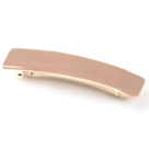 Barrette cheveux email little woman paris barrette grande rectangle argent sable