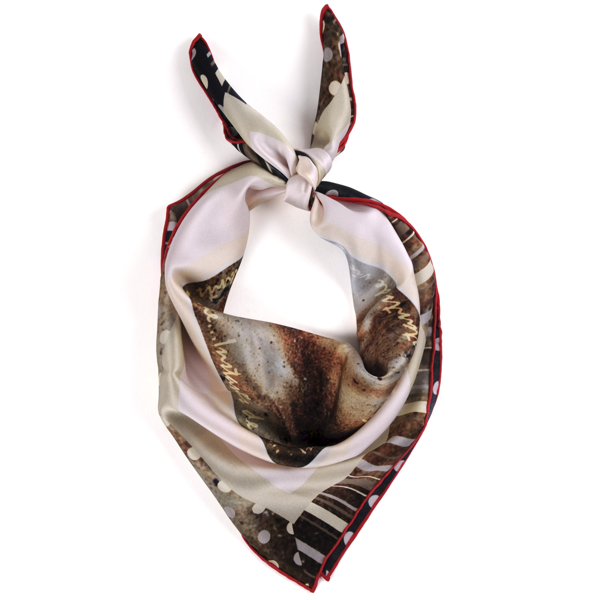 Foulard createur carre soie dune porte little woman paris