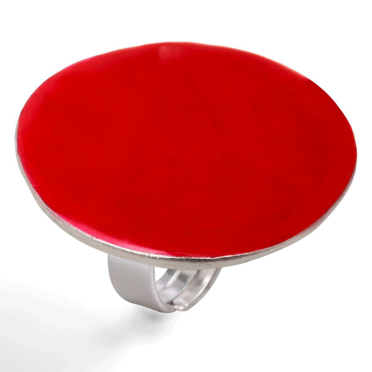 Bijou email femme lilttle woman paris bague ronde rouge