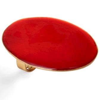 bijou de createur en email little woman paris bague rouge