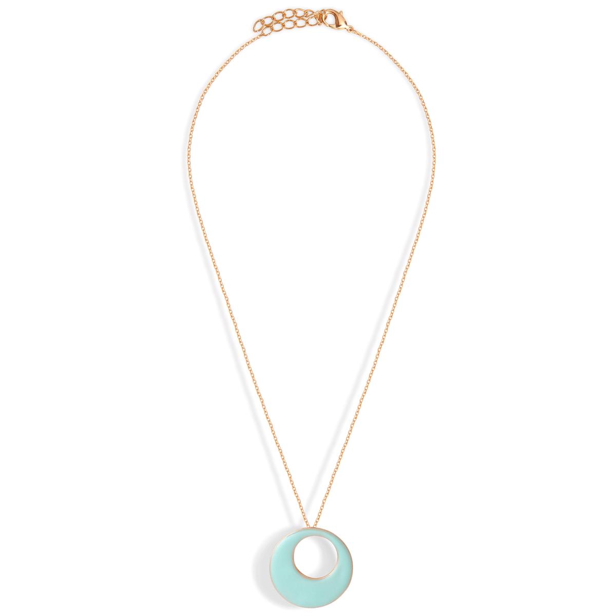 58bijou createur email little woman paris collier rond bleu