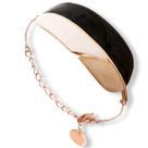 bijou en émail femme bracelet doré feuille little woman paris