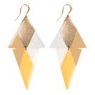 Bijou créateur - femme - Boucle d'oreille grande bi triangle