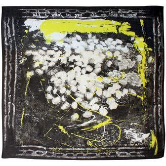 Foulard de créateur noir et blanc little woman paris