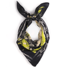 Foulard createur noir et jaune porte little woman paris