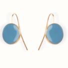 Boucles oreilles bijou createur email little woman paris dormeuses rondes bleues